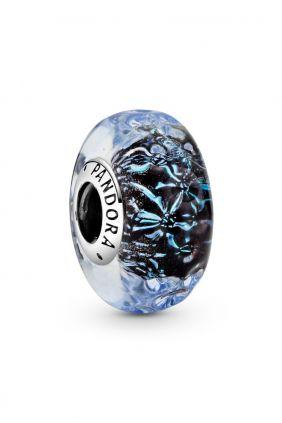 Charm Cristal de Murano Azul Oscuro Pandora