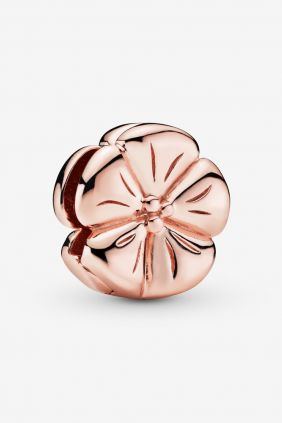 Pandora Charm Reflexions en plata de ley Flor Rose