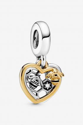 Pandora Shine charm colgante Corazón y Abejas