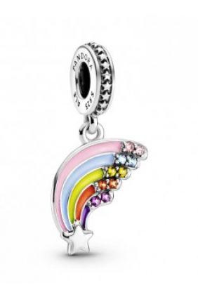 Charm colgante en plata de ley Arcoíris Colorido Pandora