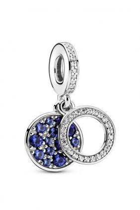 Charm colgante en plata de ley Disco Azul Pandora