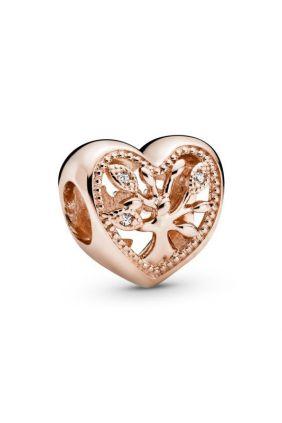Charm en Pandora Rose Corazón Árbol de la Vida
