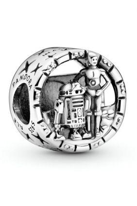 Charm en filigrana en plata de ley C-3PO™ y R2-D2™ Star Wars™