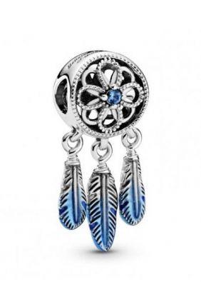Charm en plata de ley Atrapasueños Azul Pandora