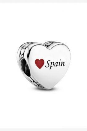 Pandora Charm en plata de ley Corazón España