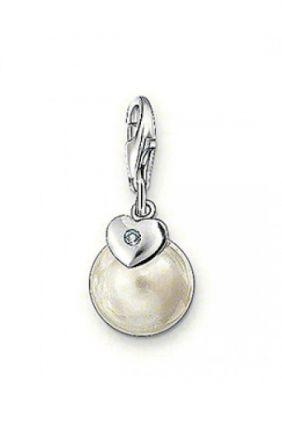 Charm perla con brillante Thomas Sabo charm club