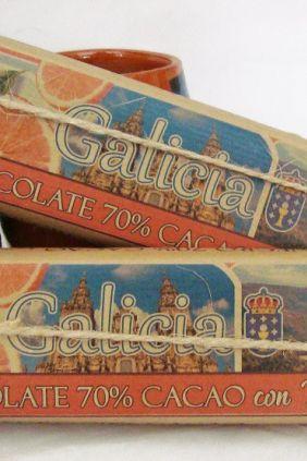 Chocolate Negro con Naranja Envoltorio Artesano Galicia - Especial Regalo