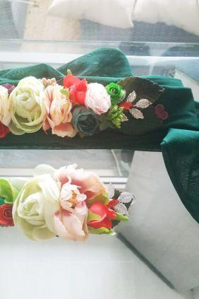 Cinturón de Ceremonia Verde/ Tull