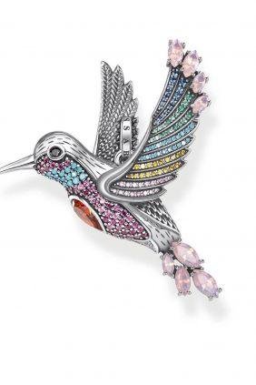 Colgante Thomas Sabo Colibri  de colores plata