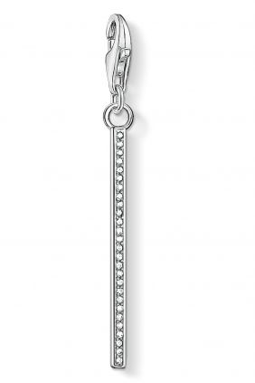 Colgante charm Thomas Sabo barra vertical plata