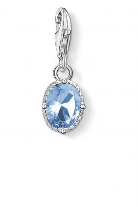 Colgante charm Thomas Sabo piedra azul