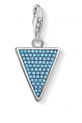 Thomas Sabo Colgante charm triángulo turquesa