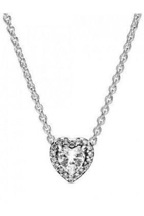 Pandora Collar en plata de ley Corazón en relieve