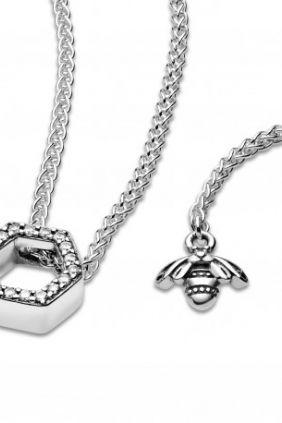 Pandora Collar en plata de ley Panal Brillante