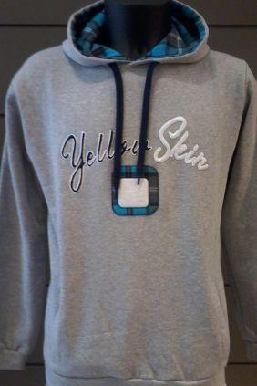 Comprar Sudadera capucha Yelow Skin en gris