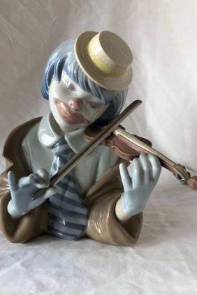 Lladró busto payaso violín 5600