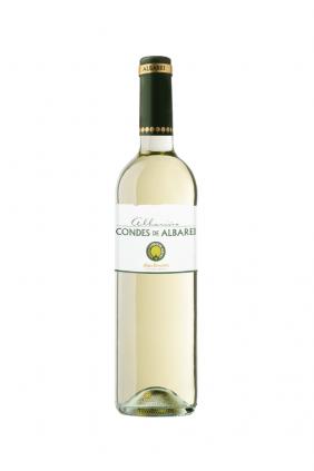 Botella vino Condes de Albarei Albariño
