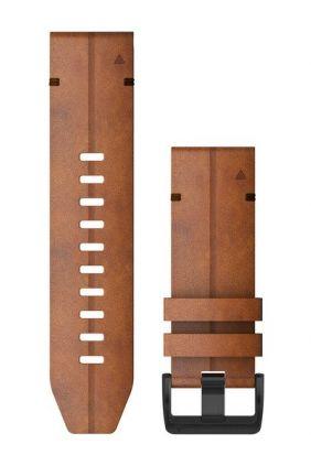 Correa de reloj QuickFit™ Garmin 26 Cuero castaño