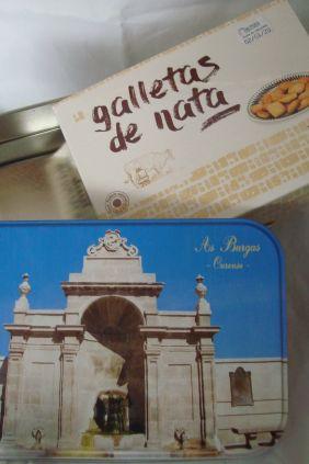 Lata cuadrada Burgas con galletas de nata
