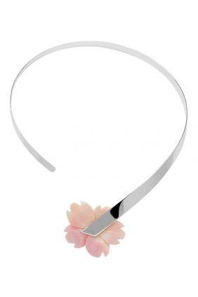 Gargantilla plata madre perla flor de Belén Bajo