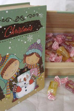 Cajita Libro Chritsmas Caramelos - regalo para Navidad