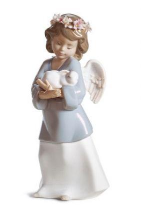 Lladró niña Ángel 6856