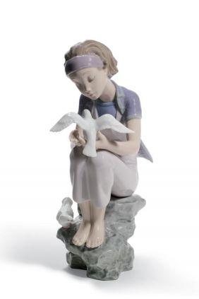 Lladró niña paloma annual 2011