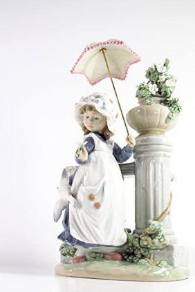 Lladró niña parasol columna 5284