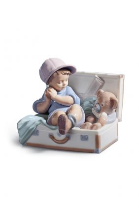 Lladró niño en maleta 6795