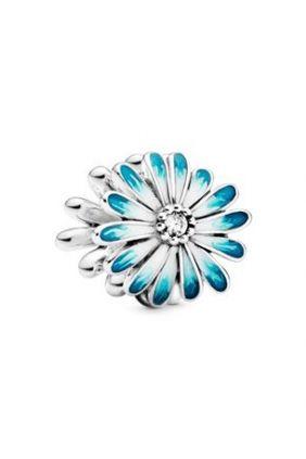 Pandora Charm en plata Margarita Azul