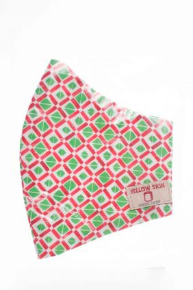 Comprar Mascarilla Cuadros higiénica reutilizable Cuadros Verde