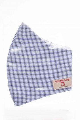 Comprar Mascarilla adulto higiénica reutilizable cuadros azul