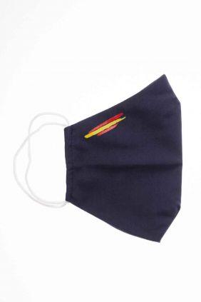 comprar Mascarilla adulto higiénica reutilizable negra bandera España