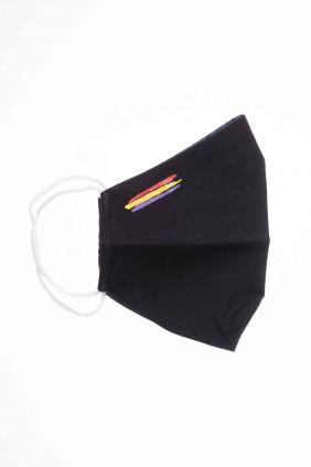 Comprar Mascarilla adulto higiénica reutilizable negra bandera Republicana