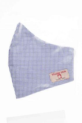 Comprar online Mascarilla infantil higiénica reutilizable azul cuadros
