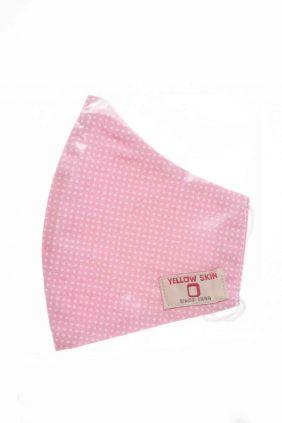 Comprar Mascarilla infantil higiénica reutilizable rosa lunares
