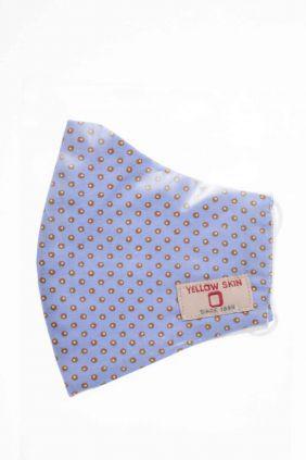 Comprar Mascarilla infantil higiénica reutilizable azul estampada