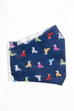 Comprar Mascarilla infantil higiénica reutilizable azul origami