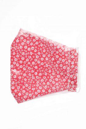 Comprar Mascarilla niños higiénica reutilizable Roja flores