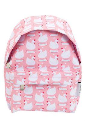 Mini-mochila cisnes rosa