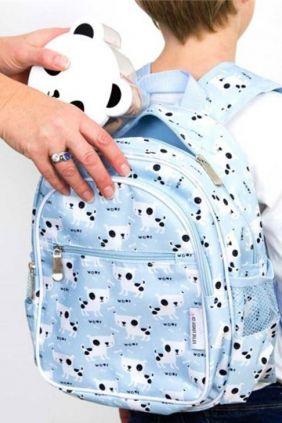Mini-mochila perros azul