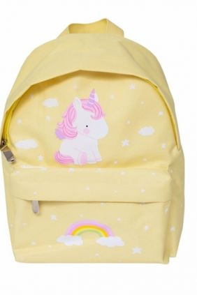 Mini-mochila unicornio amarilla