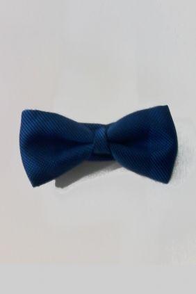 Pajarita seda lisa Azul tinta Marco Valenti