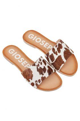 Comprar online Pala piel animal print Gioseppo Vaca Blanca