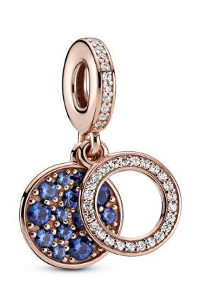 Pandora Charm Colgante en Pandora Rose Doble Disco Azul