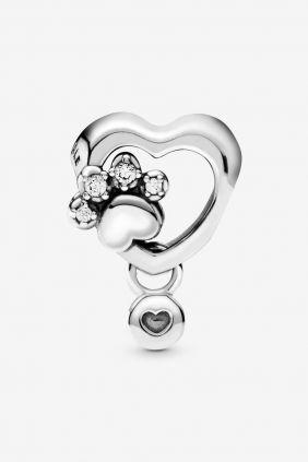 Pandora Charm en plata Corazón y Huella