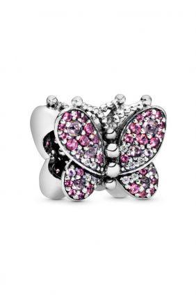 Pandora Charm en plata de ley Mariposa Rosa Deslumbrante