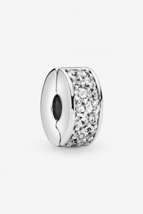 Pandora Charm plata Clip estrecho circonitas