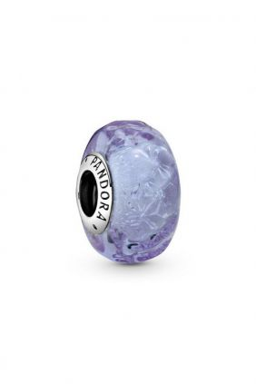 Pandora Charm plata Murano Violeta