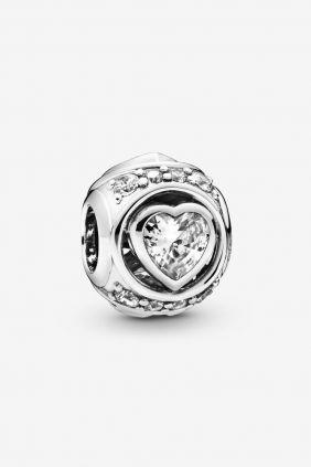 Pandora Charm plata bola corazon circonita